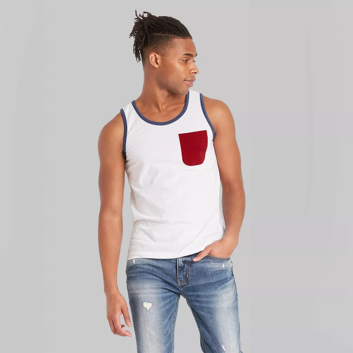Target Original Use Casual Fit Americana Knit Tank Top