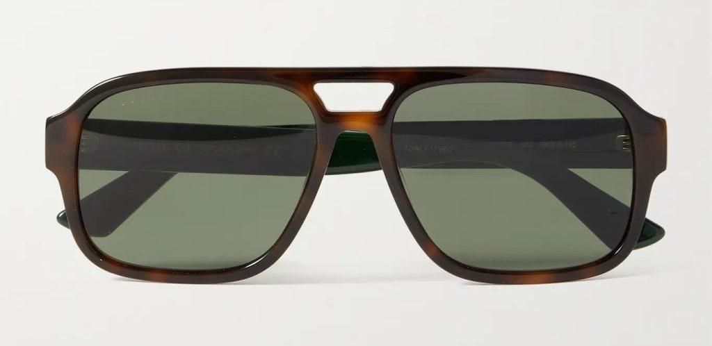 Gucci Aviator-Style Tortoiseshell Sunglasses, best sunglasses for men