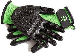 pet grooming glove handson