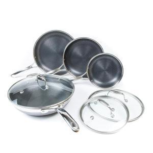 HexClad 7-piece pan set, best nonstick frying pan
