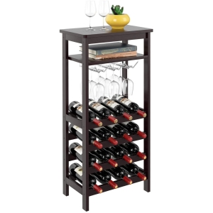 Homfa bamboo wine rack, how to store wine