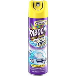Kaboom foam bathroom cleaner, how to clean a bathtub