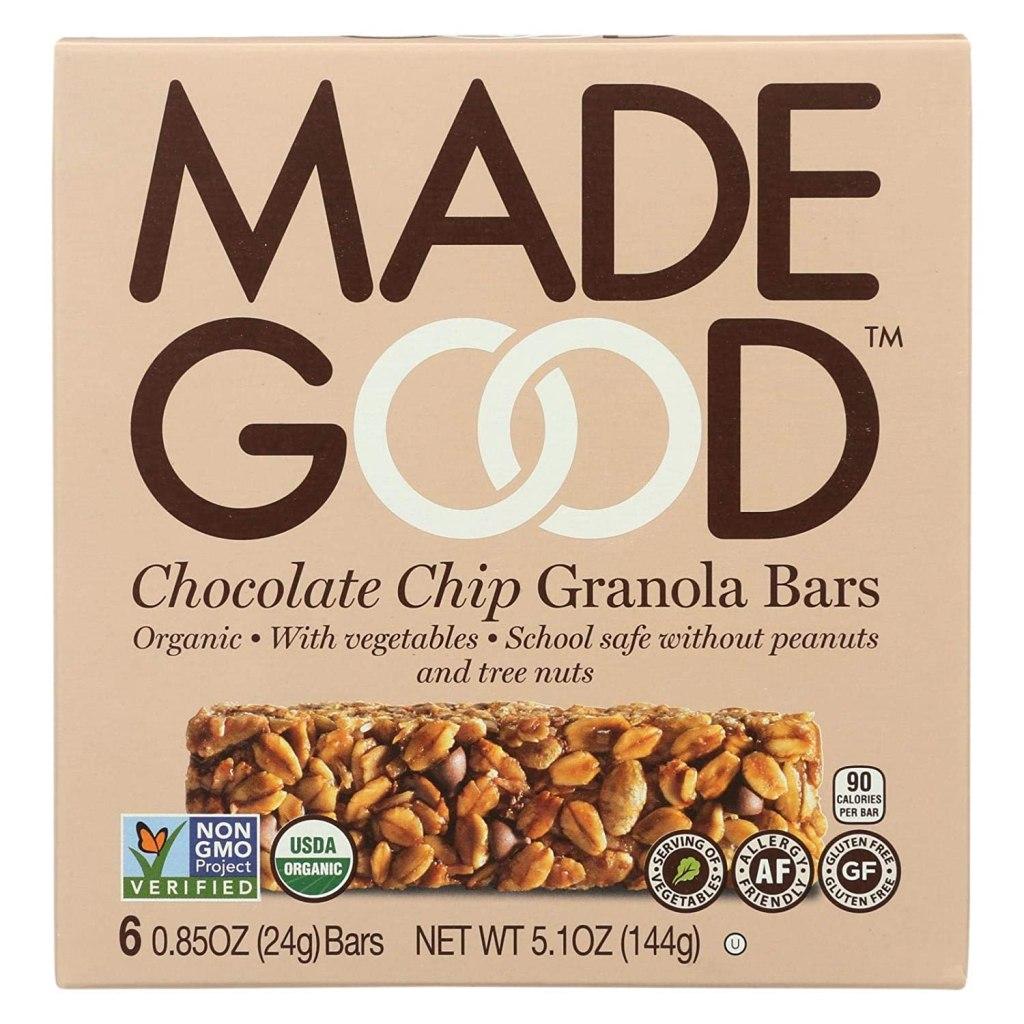 MadeGood Chocolate Chip Granola Bars