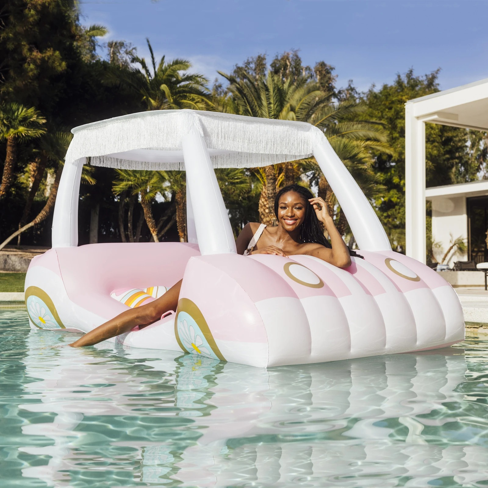 FUNBOY x Malibu Barbie Golf Cart Pool Float