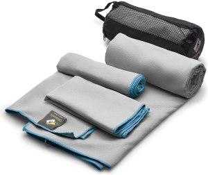 OlimpiaFit microfiber towels, gym bag essentials