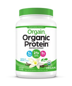 orgain organic plant-based protein powder, supplements for muscle growth