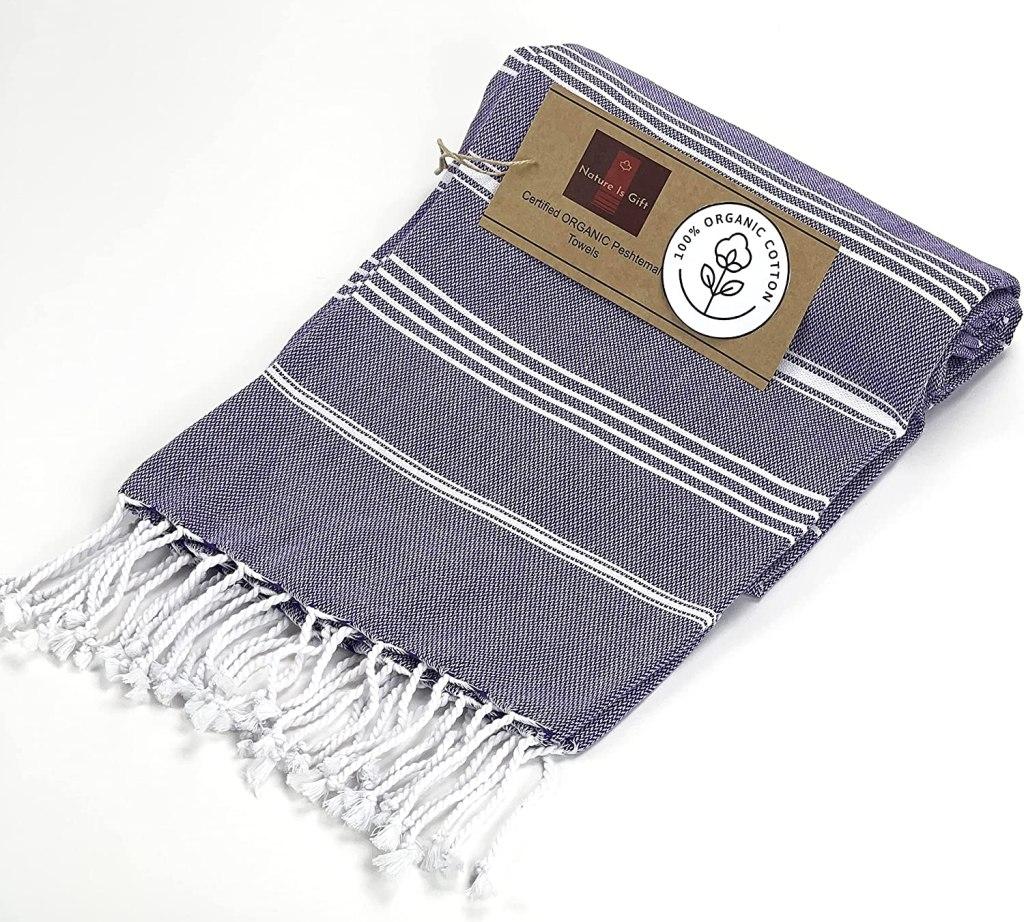 Organic Prewashed Cotton Turkish Beach Peshtemal Towels