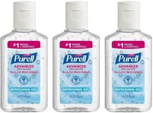 purell advanced hand sanitizer, gym bag essentials