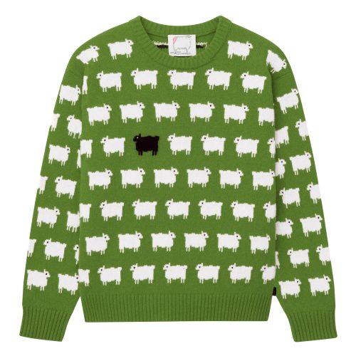 Rowing Blazers x Warm & Wonderful Green Sheep Sweater
