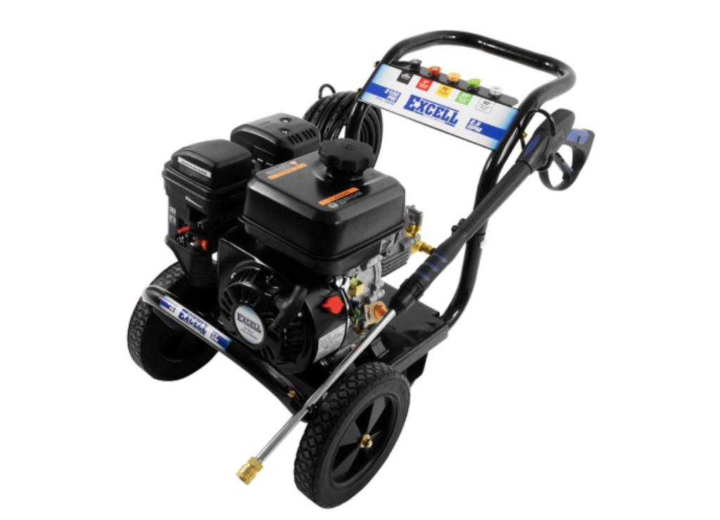 EXCELL 3100 PSI 2.8 GPM 212CC OHV GAS PRESSURE WASHER