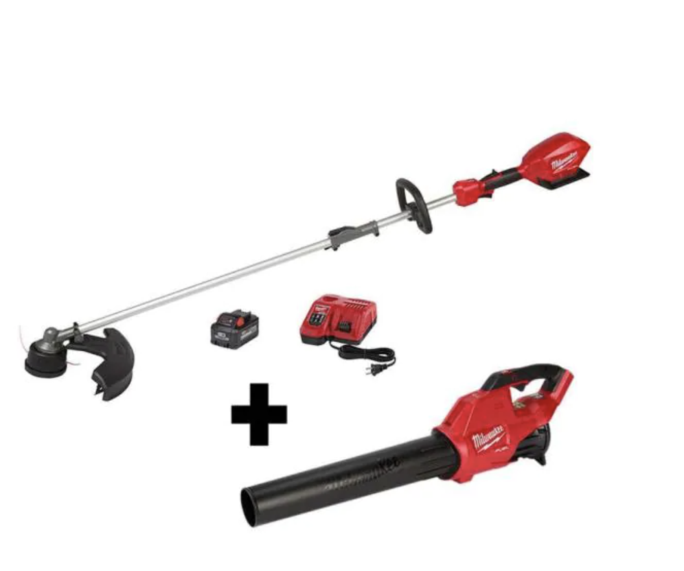 Milwaukee Cordless Trimmer Kit with Fuel Blower