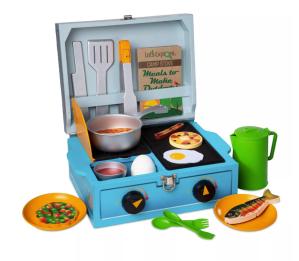 Melissa & Doug let's explore camp stove set, best mud kitchens for kids