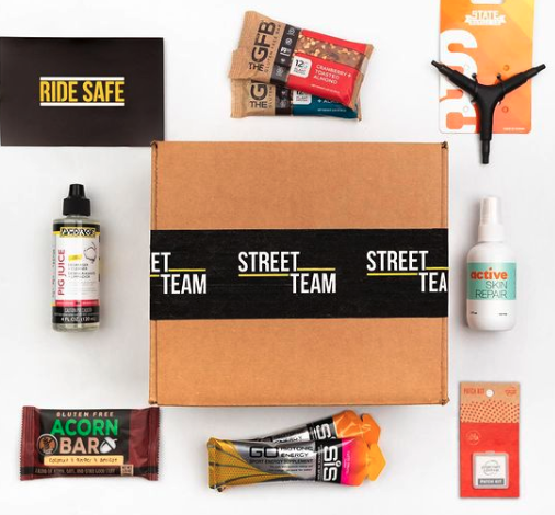 street team cycling, outdoor subscription boxes
