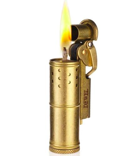 DEWEL Vintage Wheel Kerosene Lighter