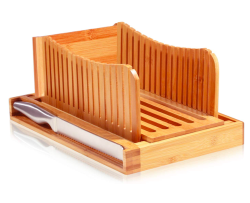 Bambüsi Bread Slicer Cutting Guide with Knife