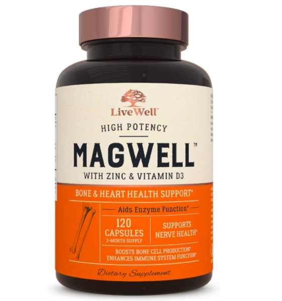 Livewell Labs Magnesium, Zinc, and Vitamin D3 Supplement