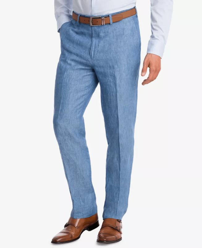 Bar III Men's Slim-Fit Linen Suit Pants