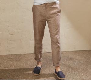 Banana Republic Factory Linen-Blend Mason E-Waist Athletic-Fit Pant