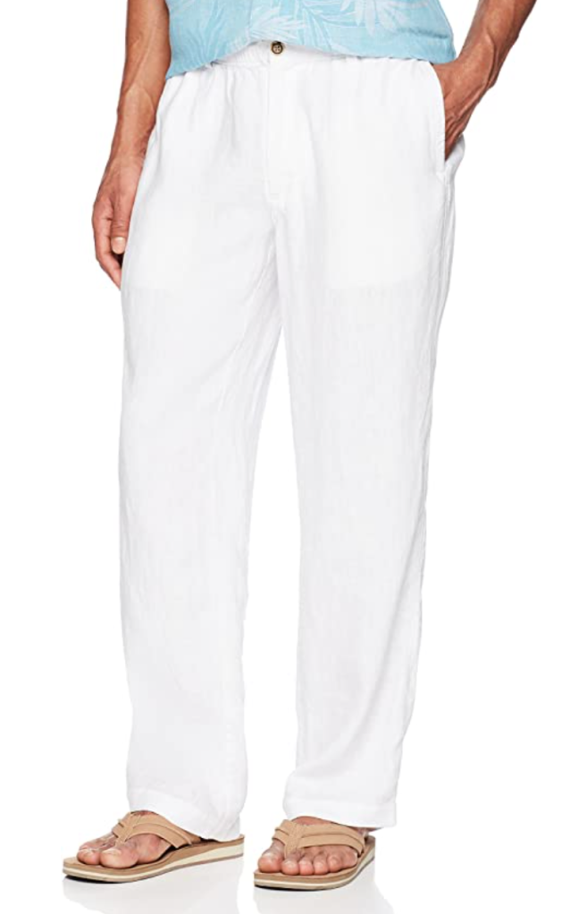 28 Palms Men's Relaxed-Fit Drawstring Linen Pant