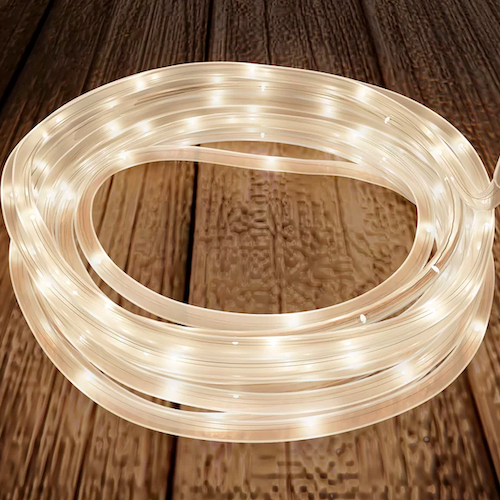 The Party Aisle Outdoor Solar Powered 100-Bulb Rope String Lights