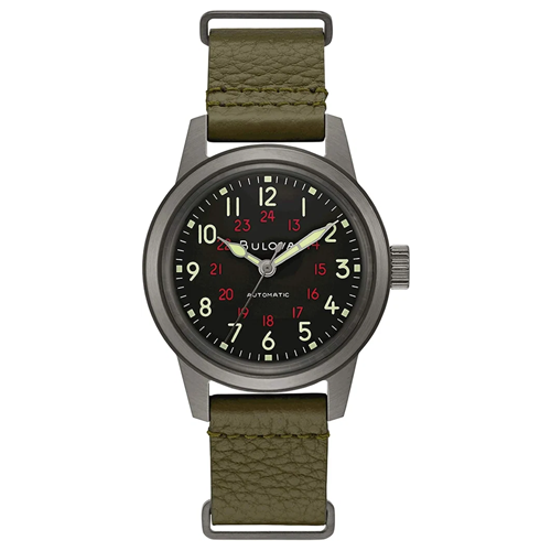 Bulova-Archive-Series-Military-98A255-Automatic-Watch
