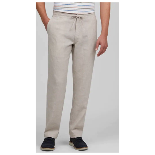 Jos. A. Bank Tailored Fit Flat Front Linen Blend Sorona® Casual Pants