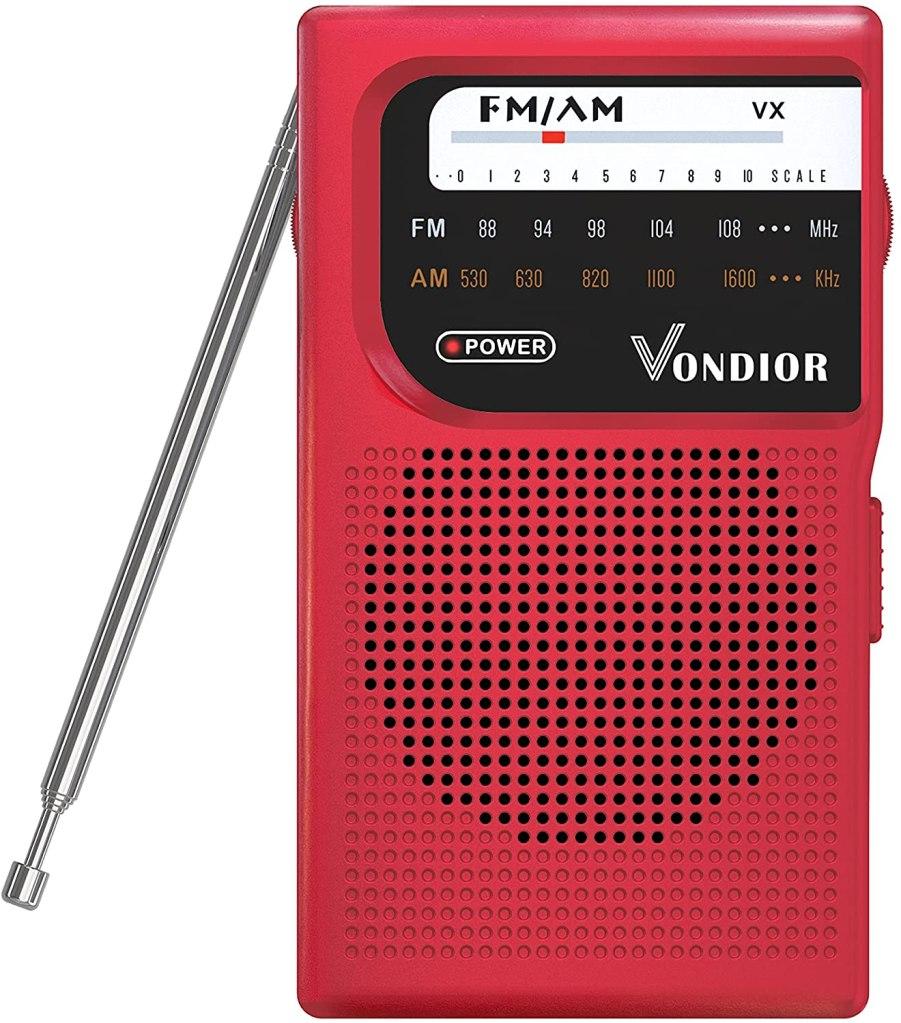 Vondior Store AM FM Battery Operated Portable Pocket Radio