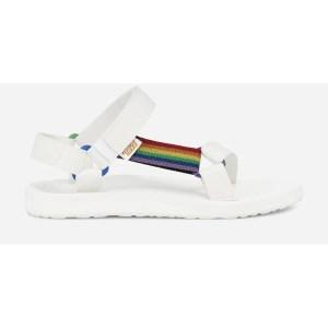 white teva sandals, teva pride collection