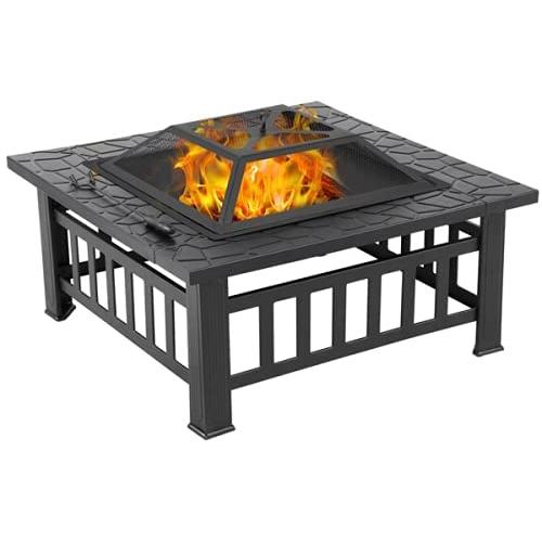 Yaheetech 32in Outdoor Metal Firepit
