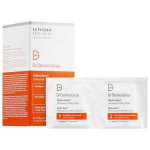 alpha beta universal daily peel, chemical exfoliants for face