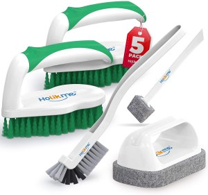 Holikme deep cleaning brush set, how to clean a bathtub