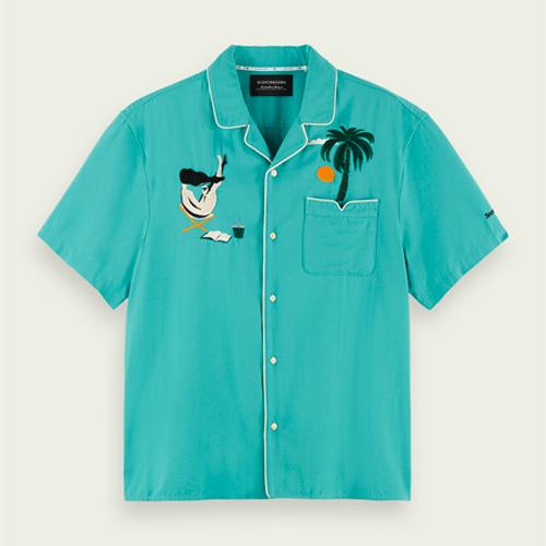 camp collar shirts, scotch and soda