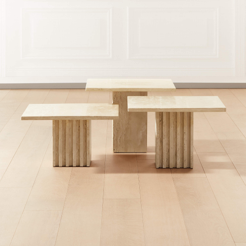 travertine cocktail tables