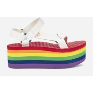 flatform rainbow sandals, Teva pride collection