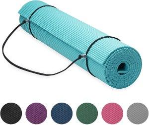 gaiam essentials yoga mat, gym bag essentials