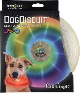 nite ize flashflight LED flying disc, frisbees for dogs