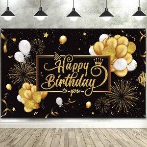 large backdrop happy birthday banner