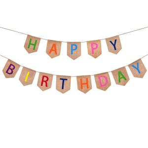 happy birthday burlap banner, birthday banners