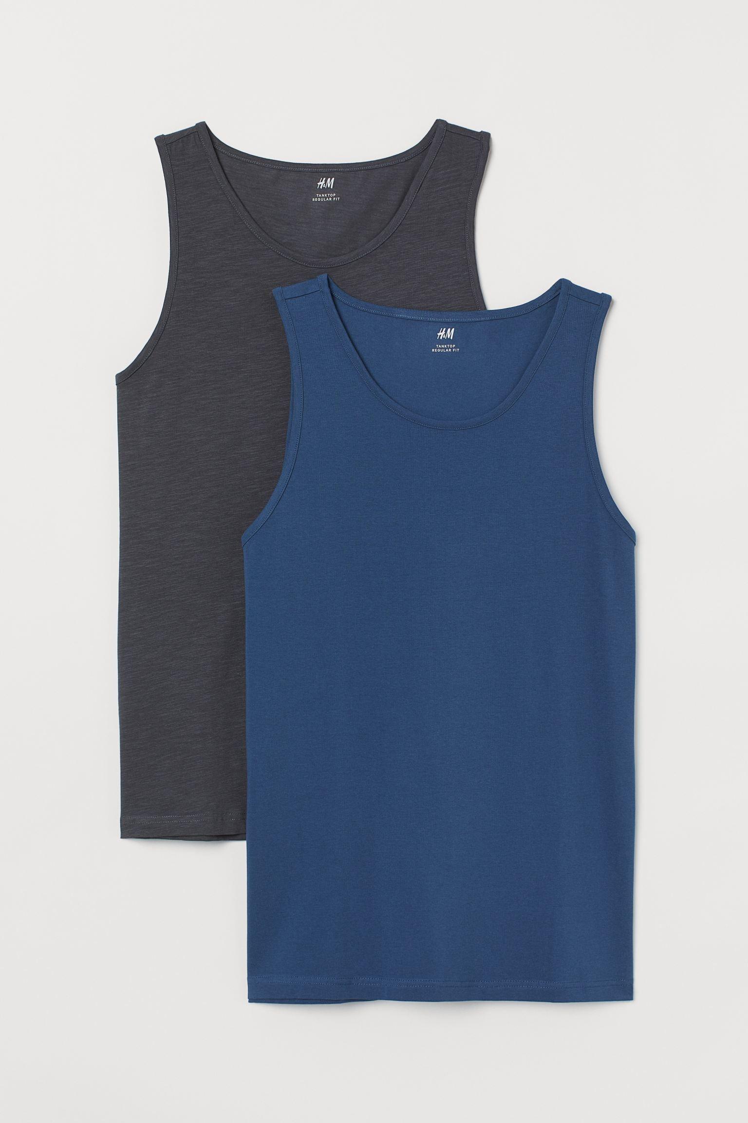 H&M 2-Pack Regular Fit Tank Tops