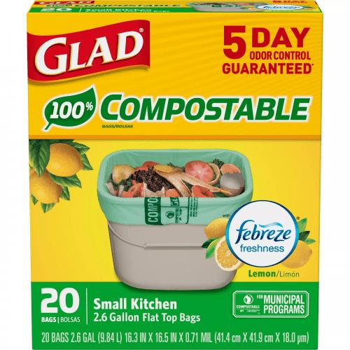 glad compostable trash bags