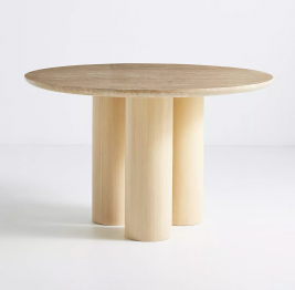 anthropologie travertine dining table