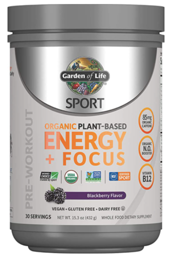 Garden of Life Sport Organic Plant-Based Energy + Focus, Best Pre-Workout Drinks