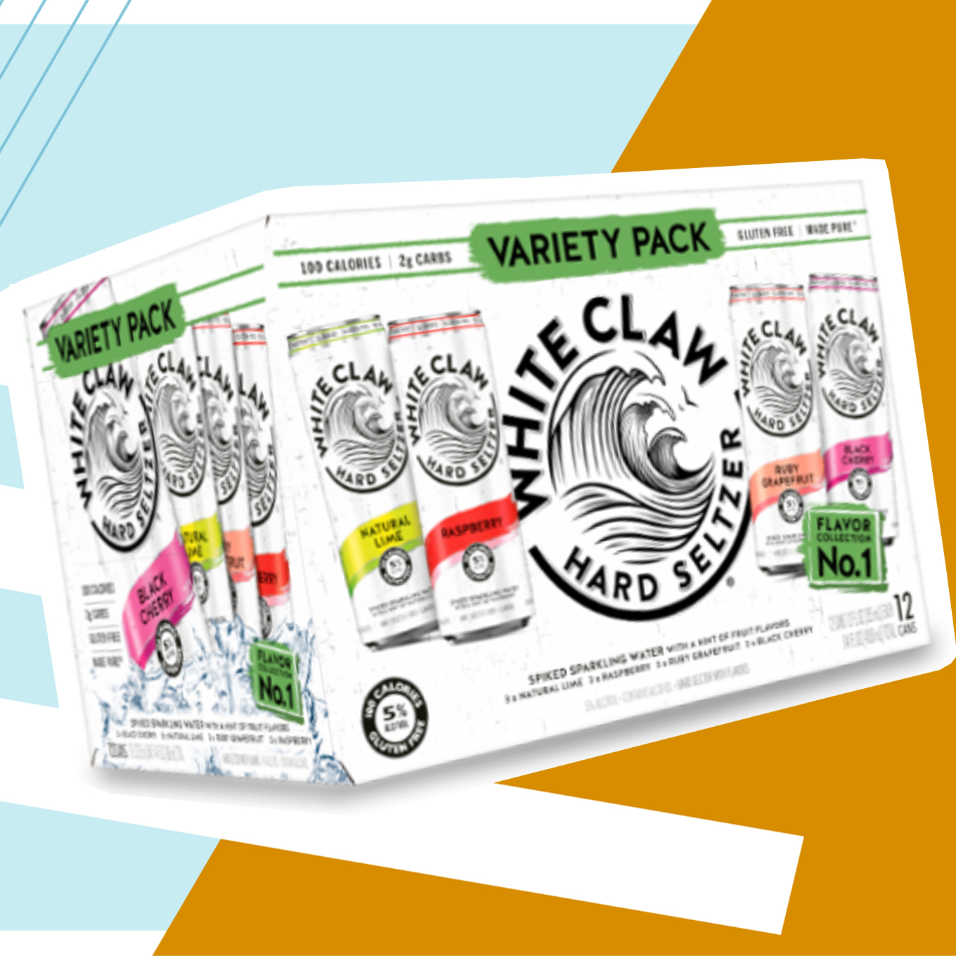 White Claw Hard Seltzer Variety Pack Flavor Collection No. 1
