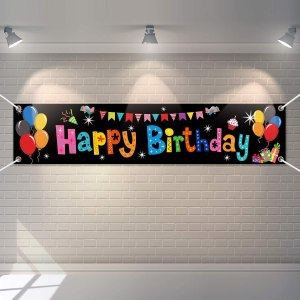 colorful large happy birthday banner