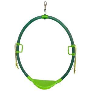 m & m green metal ring swing