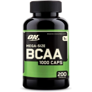 Optimum nutrition BCAA capsules, supplements for muscle growth