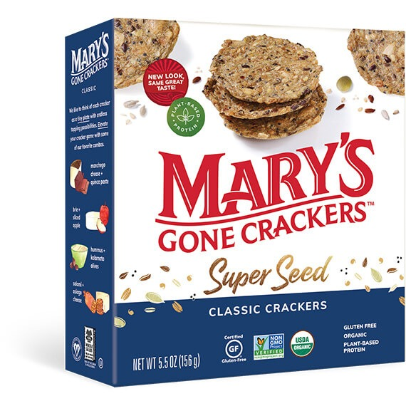 Mary's Gone Crackers, Best snack foods