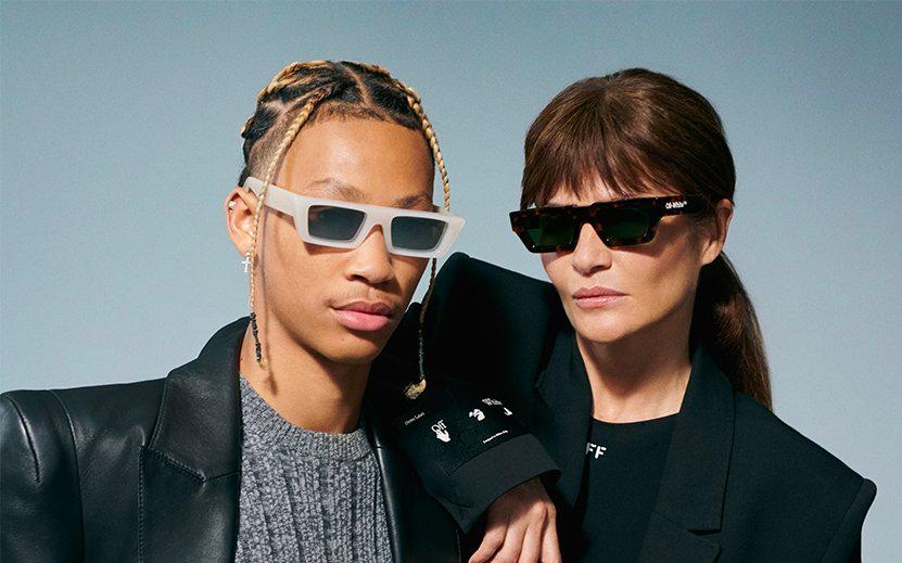 off-white sunglasses on models