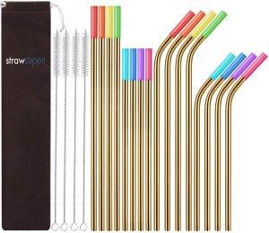 StrawExpert reusable straw pack, best Amazon deals
