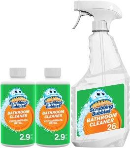 scrubbing bubbles multipurpose bathroom cleaner, how to clean a bathtub